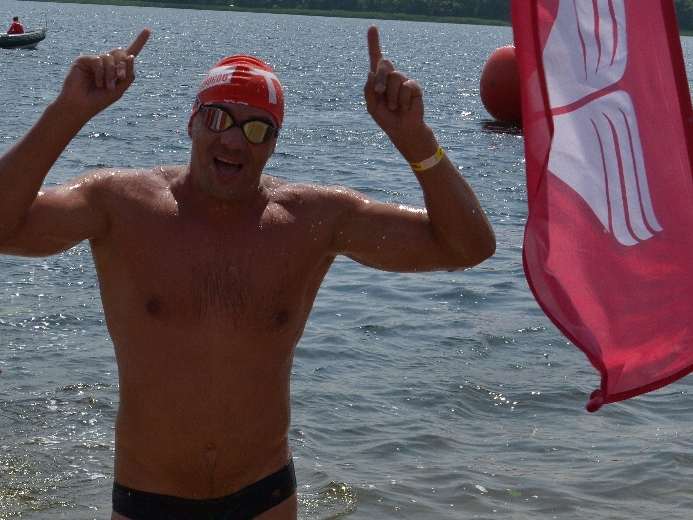 Aleksandr Rudakov at the finish