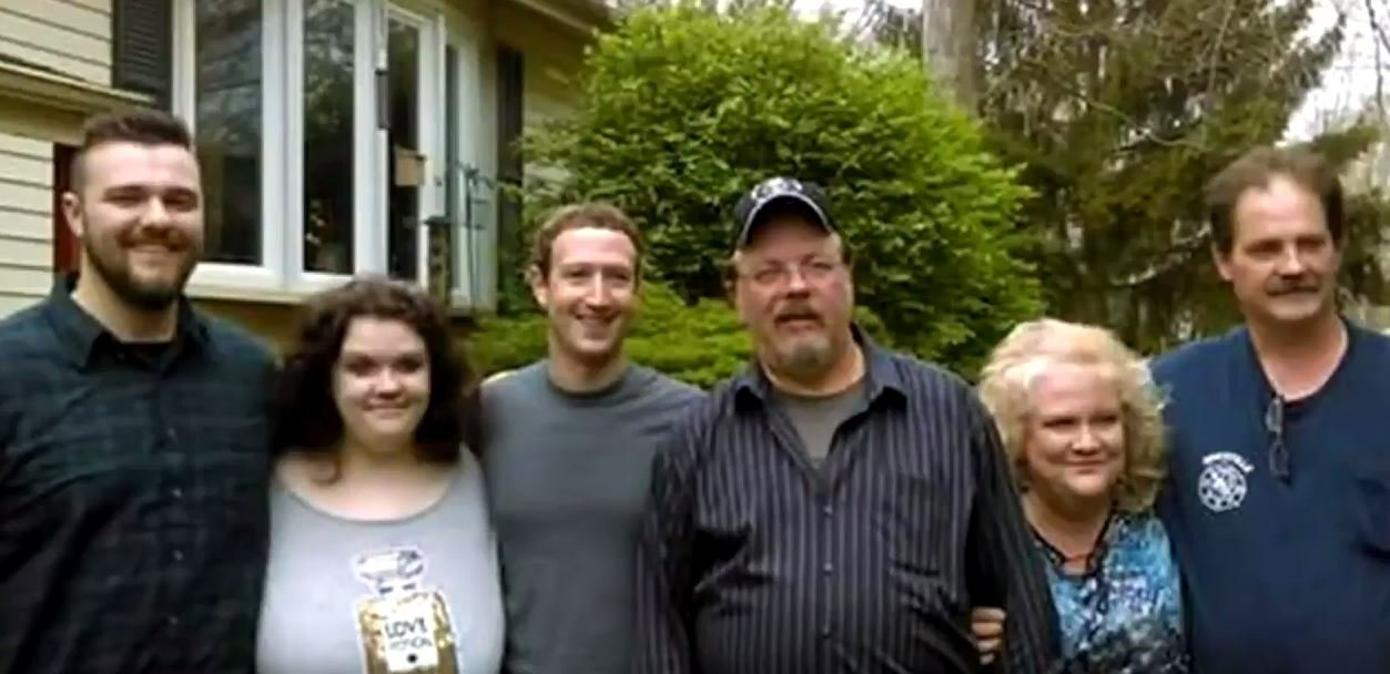Mark Zuckerberg visiting Daniel Moore, an employee of NLMK Pennsylvania