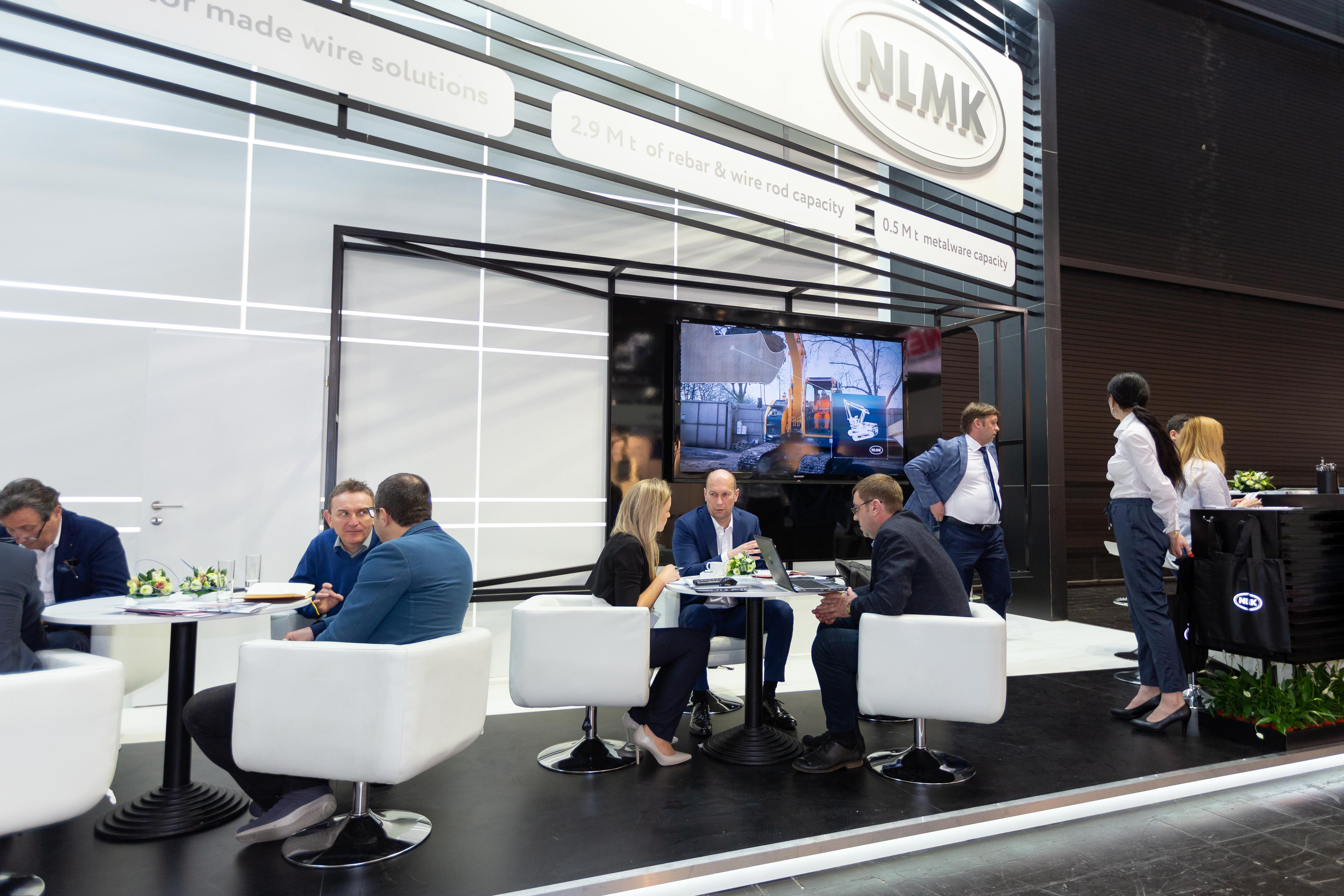 NLMK Group's stand showcased NLMK Russia Long Division products